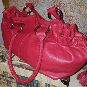 The Sak Bags - The SAK Red Leather Bucket Hobo Handbag